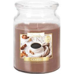 Duża Świeca Zapachowa w Szkle z Wieczkiem Coffee Kawa