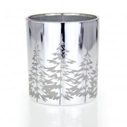 Osłonka Świecznik Yankee Candle Snowy Gathering Winter Trees na świece typu votive/teelight