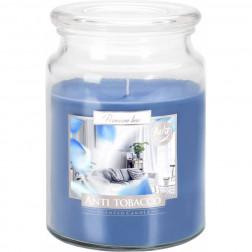Duża Świeca Zapachowa w Szkle z Wieczkiem Anti Tobacco (Antytabak)