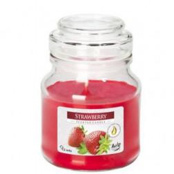 Mała Świeca Zapachowa w Szkle z Wieczkiem Strawberry Truskawka