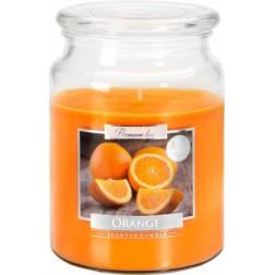 Duża Świeca Zapachowa w Szkle z Wieczkiem Orange Pomarańcza
