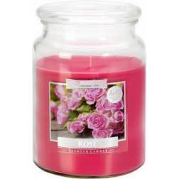 Duża Świeca Zapachowa w Szkle z Wieczkiem Rose Róża