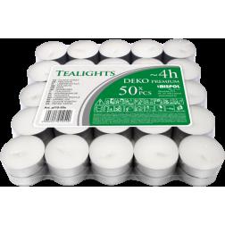 Podgrzewacze Tealight Deko Premium Bezzapachowe  w Stosie  50 sztuk