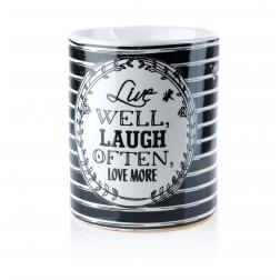 Kominek zapachowy Live Well Laugh Often Cermiczny