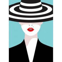 Nowoczesny obraz Tajemnica Kobiety w Kapeluszu Pop Art
