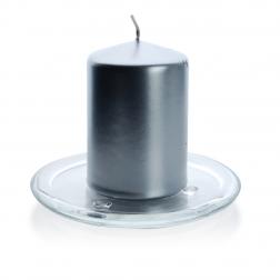 Podstawka pod świecę z grubego szkła