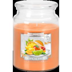 Duża Świeca Zapachowa w Szkle z Wieczkiem Tropical Fruits Owoce Tropikalne
