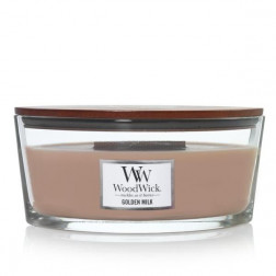 Świeca zapachowa WoodWick Golden Milk Elipsa