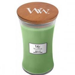 Świeca zapachowa WoodWick Hemp & Ivy Duża wyjątkowa!