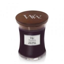 Świeca zapachowa WoodWick Velvet Tobacco Średnia Aksamit Jesień NOWOŚĆ!