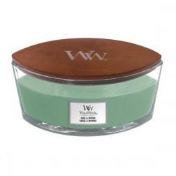 Świeca zapachowa WoodWick Sage & Mirrh Elipsa Jesień