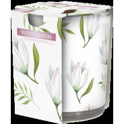 Ozdobna Świeca Zapachowa w Szkle - White Bloom Biały Rozkwit WIOSNA
