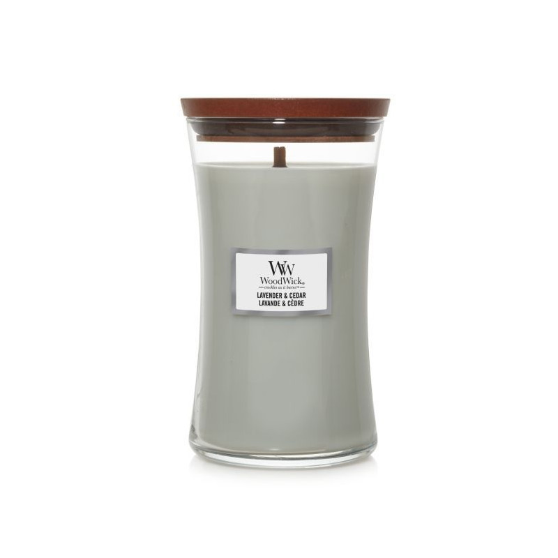 Świeca zapachowa WoodWick Lavender & Cedar Duża Lawenda i Cedr Woodwick - 1