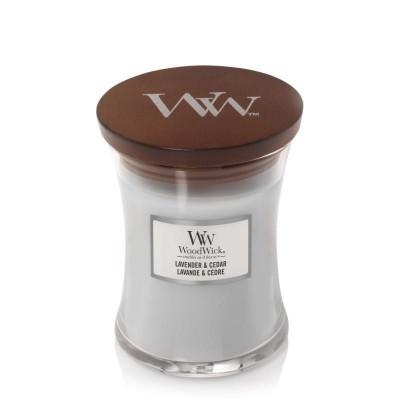 Świeca zapachowa WoodWick Lavender & Cedar Mała Lawenda i Cedr Woodwick - 1