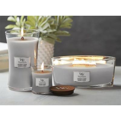 Świeca zapachowa WoodWick Lavender & Cedar Mała Lawenda i Cedr Woodwick - 3