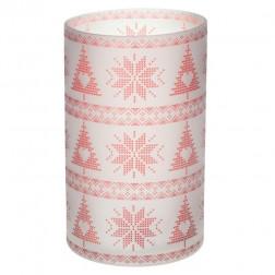 Osłonka świecznik Yankee Candle Red Nordic Frosted Glass na dużą świece