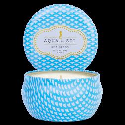 Świeca sojowa Eko Aqua de Soi Sea Glass średnia morski
