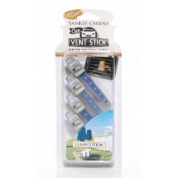 Yankee Candle Clean Cotton Vent Stick Zapach Samochodowy  x 4