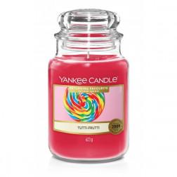 Yankee Candle Duża Świeca Zapachowa Tutti-Frutti | Cukierki Owocowe