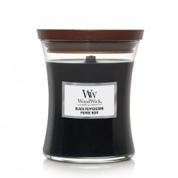 Woodwick Black Peppercorn Średnia świeca zapachowa Pieprz