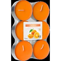 Podgrzewacze Zapachowe Tealight Maxi 6 sztuk Pomarańcza
