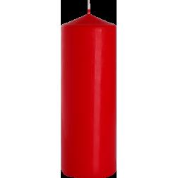 Świeca Walec Bispol Czerwona 1 sztuka 8x25 cm