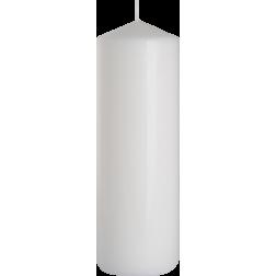 Świeca Walec Bispol Biała 1 sztuka 8x25 cm