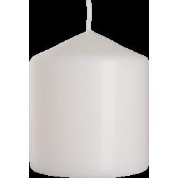 Świeca Walec Bispol Biała 1 sztuka 8x9 cm