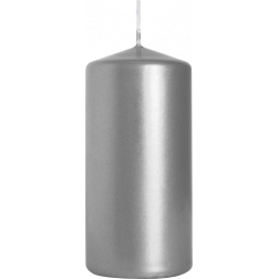 Świeca Walec Bispol Srebrny Metalik 1 sztuka 5x10 cm