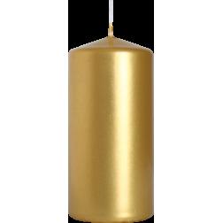 Świeca Walec Bispol Złoty Metalik 1 sztuka 5x10 cm