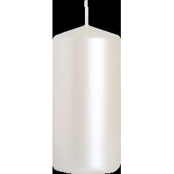 Świeca Walec Bispol Biała Perłowa 1 sztuka 5x10 cm