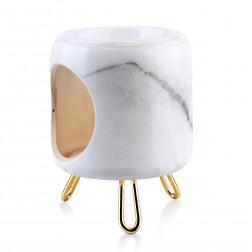 Kominek zapachowy Marmurek na nóżkach ceramiczny biały