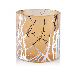 Szklany Świecznik Odette Silver na świece typu walec 15x15 Mondex