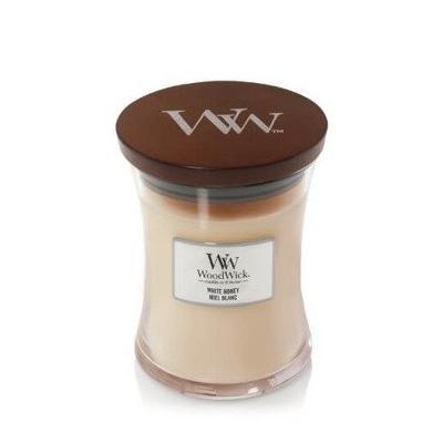 WoodWick Core White Honey Świeca Zapachowa Średnia 275g
