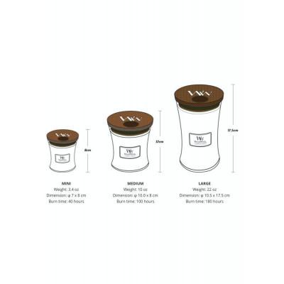 rozmiary świec Woodwick: rysunek