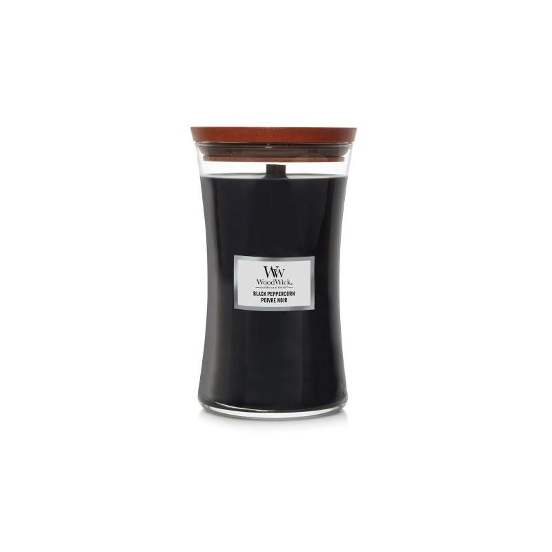 Duża świeca zapachowa Black Peppercorn marki Woodwick z wieczkiem