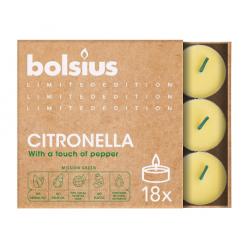 Podgrzewacze Tealight na Komary Citronella Bolsius 18 sztuk