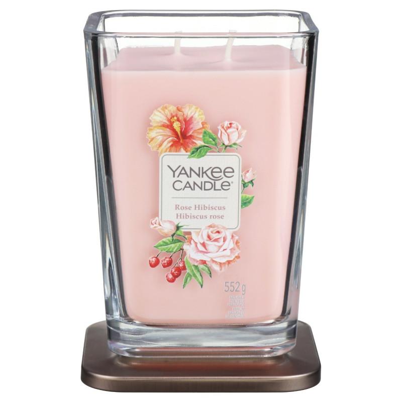 Yankee Elevation Rose Hibiscus Duża Świeca Zapachowa 2 knoty