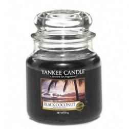 Yankee Candle Black Coconut Mała świeca zapachowa Czarny Kokos