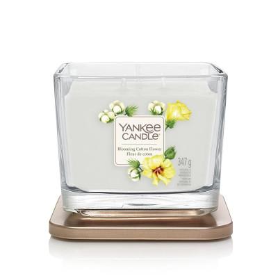 Średnia świeca zapachowa Blooming Cotton Flower Yankee Candle z kolekcji Elevation