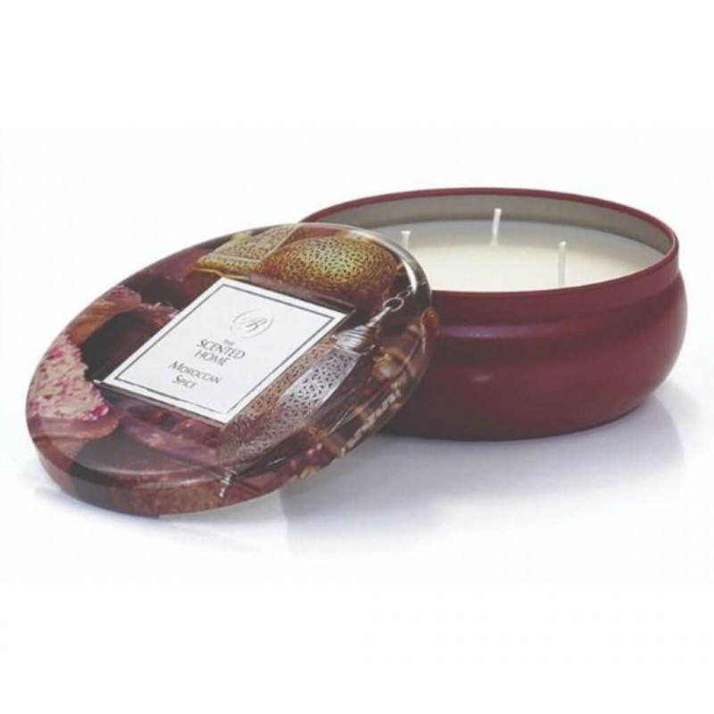 THE SCENTED HOME: THREE WICK SCENTED CANDLE - MOROCCAN SPICE ; Świeca mineralna Ashleigh & Burwood Moroccan Spice