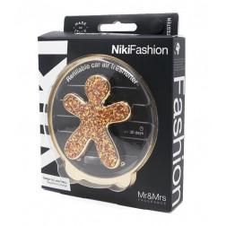 zapach samochodowy Mr & Mrs Air Friends Niki Fashion o zapachu Sandal & Incense