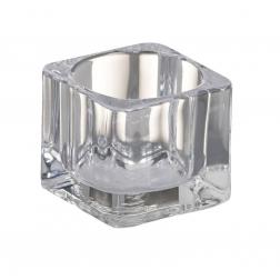 Świecznik kwadratowy do świeczek typu tealight Bolsius 4 x 5,5 cm