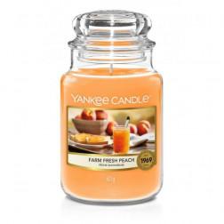 Yankee Candle Farm Fresh Peach Duża świeca zapachowa Jesień/Zima