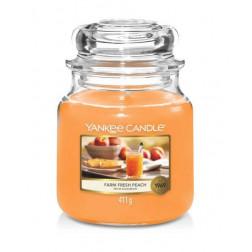 Yankee Candle Farm Fresh Peach średnia świeca zapachowa Jesień 2021