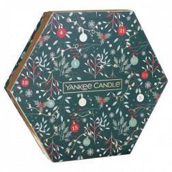 Zestaw Świąteczny Yankee Candle Countdown to Christmas 18 x tealight + świecznik
