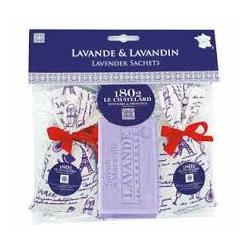 Zestaw upominkowy Le Chatelard Lawenda 2 x zapach + mydło