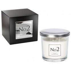 Świeca Zapachowa w Szkle z Dwoma Knotami No2