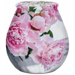 Świeca w ozdobnym szkle B-lite Kwiat Piwonii
