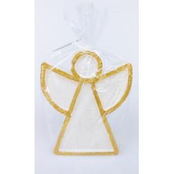 ANIOŁ FIBI świeca świąteczna kolor złoto-biały